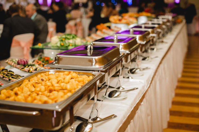 Catering Company Near me. A photo of a buffet set up.